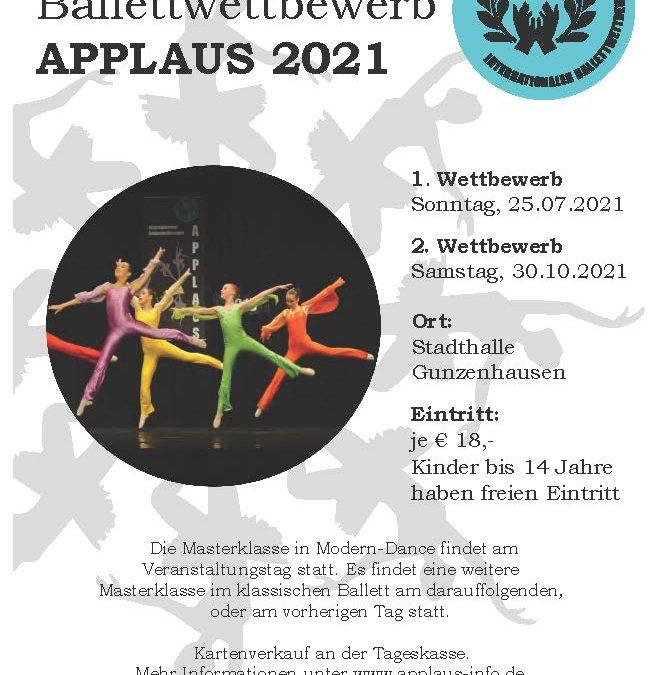 Ballettwettbewerb 2021 – neuer Versuch! #restart